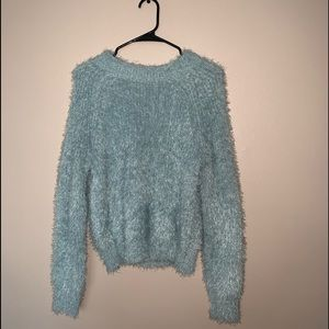 Fuzzy Sky Blue Top